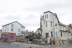 The Comrades Club being demolished to make way for the new surgery