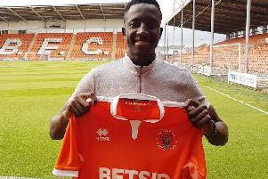 Yusifu Ceesay signed for Blackpool in September of last year but has yet to feature for the club