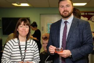 Deputy Police and Crime Comissioner for Lancashire Chris Webb and Sgt Abi Finch-Hall of Lancashire Police's Human Trafficking and Modern Slavery team