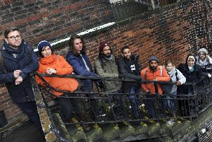 Cristina Cerulli (second from left) with some of her students who are working on Sheffield Community Land Trust's proposals for Laycock House