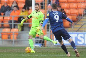 Mark Howard on his return to action in the 2-0 win against Walsall