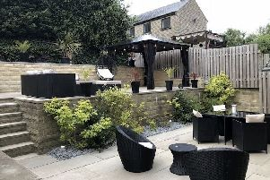 Finished article: Andy Hobson and his team dug out 20 tonnes of soil by hand to create this dream garden space.