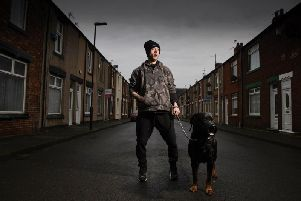 Partially blind David who has his payment reduced leaving him just 5 to live off for the entire month. 'Image by Channel 4.