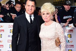 Dame Barbara Windsor and Scott Mitchell, as Mr Mitchell has urged people to check for the early signs of dementia in loved ones on Valentine's Day