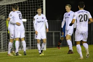 AFC Fylde hope to be celebrating again when they meet Chesterfield tomorrow