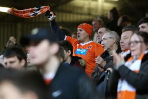 Blackpool fans at The Valley