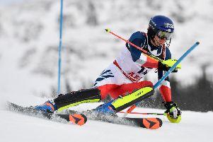 Dave Ryding in action at the FIS World Ski Championships. Picture: Getty Images