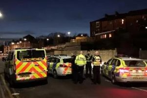 Police at the scene. Picture: Dan Hayes