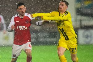 Fleetwood Town defied torrential conditions to defeat Burton Albion earlier in the season