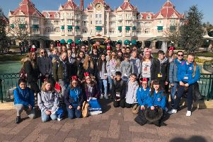 Pupils from Saint Aidan's High School visited Disney as part of their trip to Paris.