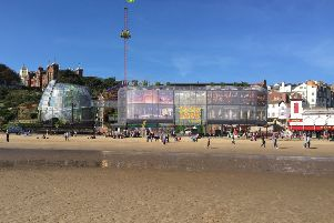 Artist's impression of how Flamingo Land Coast on Scarborough's South Bay might look