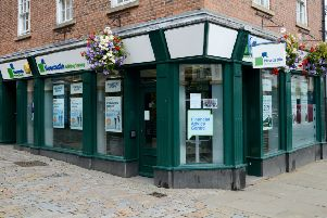 The Morpeth branch of Newcastle Building Society.