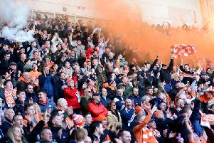 Over 15,000 Blackpool fans packed into Bloomfield Road on Saturday