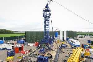 Cuadrilla's fracking equipment at the Preston New Road site pictured last year before it was removed. The company said that it has now moved more kit back to prepare for fracking later in 2019