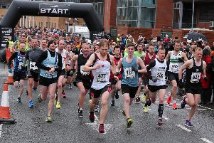 And they're off! Runners at this year's Retford Half Marathon.