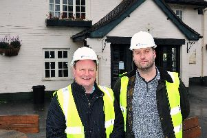 Richie Roberts from Star Pubs and Bars and Ross Robinson at the Eagle and Child in Weeton which is undergoing a revamp