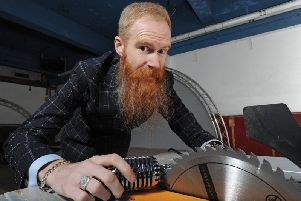 Ryan Gleeson is carrying out the final bits of work to get his new stand-up club Comedy Station Comedy Club in Bank Hey Street ready for the opening night