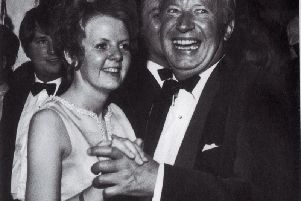 In 1970, bachelor Edward Heath was captured on camera as he danced with young conservative ball chairman Susan Hargreaves at the Locarno Ballroom Central Drive, Blackpool