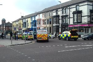 Emergency services are attending an incident in Blackpool.