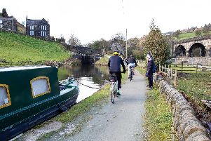 Work on 2.1m scheme to improve cycling and walking access on canal towpath around Hebden Bridge to start in April