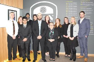 The Town Hall Dental team visited Elland Road ahead of the announcement