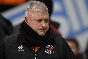 Blackpool FC manager Terry McPhillips