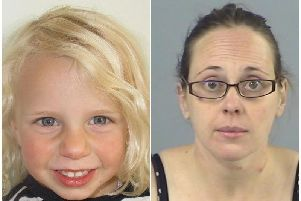 (Right) Claire Colebourn, who has been sentenced following her conviction at Winchester Crown Court for the murder of her three-year-old daughter, (left) Bethan Colebourn, by drowning her in the bath.