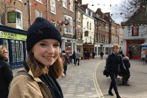 Student, Matilda Hersey protesting against climate change