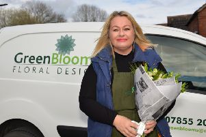 Florist Tina Green Of Green Blooms has been leaving bouquets around Amber Valley to cheer up local residents