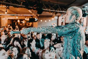 Oli Sykes letting the crowd sing at Church, Kelham Island (Pic: Tom Sykes, 7Points)