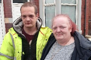 Janette Dawson and her son Ryan Ball who have been ordered to leave their Cambridge Road house.
