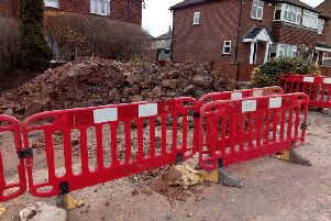 Diggers at work - The consquences of new housing developments in Harrogate are being felt in Kingsley Drive, in particular.