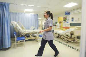 A file image of the A&E department at Blackpool Victoria Hospital from December 2018. Pictured is physician associate Laura McMullen