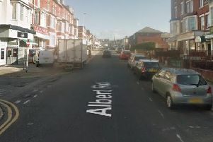 A Google Streetview image of Albert Road in Blackpool town centre