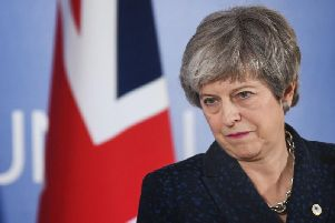 Prime Minister Theresa May giving a statement about Brexit at the European Leaders' summit in Brussels. Picture: Stefan Rousseau/PA Wire