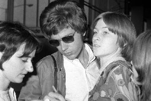Musician Scott Walker (centre), who has died at the age of 76. Walker was one third of The Walker Brothers and later became a solo artist.