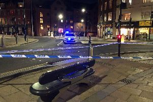 Officers are at the scene. Picture: Dan Hayes