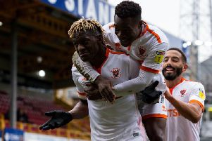 Armand Gnanduillet scored his 13th and 14th goals of the season in the 4-1 win at Bradford