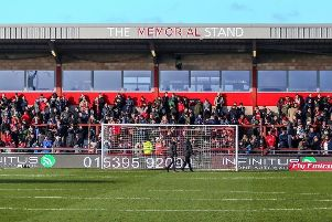 Fans at Fleetwood Town's Highbury Stadium