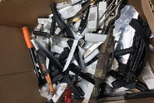 Police recovered 182 knives which will now be safely disposed off