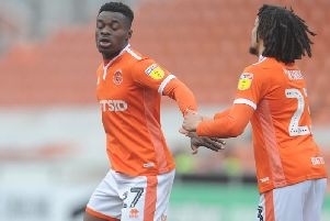 Marc Bola got Blackpool back into it with a first-time volley on his weak foot