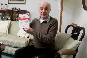 Billy Ingham 70, worked with asbestos in Leyland when he was an apprentice. He now has pleural plaques, which is caused by asbestos exposure, and ANCA vasculitis, a lung condition
