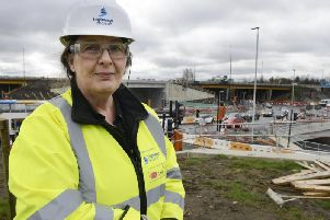 Highways England project manager Julie Alexander at the new junction. Picture by Jane Coltman