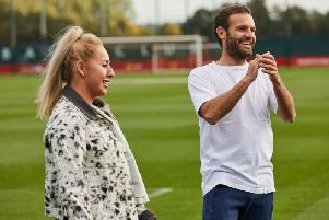 Liv Cooke is also the first freestyle footballer to join Juan Mata's Common Goal, an initiative looking to get footballers to give a percentage of their wage to football charities (Image: Common Goal)