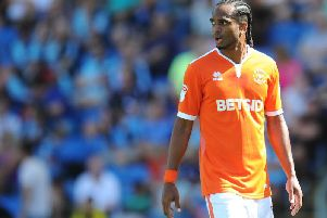 Nathan Delfouneso will make his 200th appearance for Blackpool should he feature this weekend