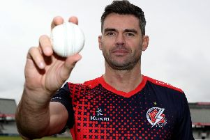 Lancashire and England paceman Jimmy Anderson