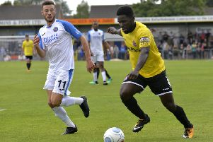 Zaine Francis-Angol was subbed against Dagenham and Redbridge with illness      Picture: Steve McLellan