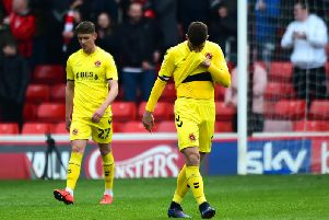 Ched Evans looks dejected