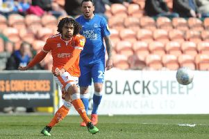 Terry McPhillips felt Blackpool's Nya Kirby was 'terrific' against Peterborough despite the pitch