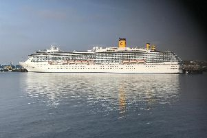 Costa Mediterranea berthed at the Port of Tyne's Northumbrian Quay.